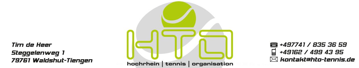 HTO – Tennis – Hochrhein Tennis Organisation